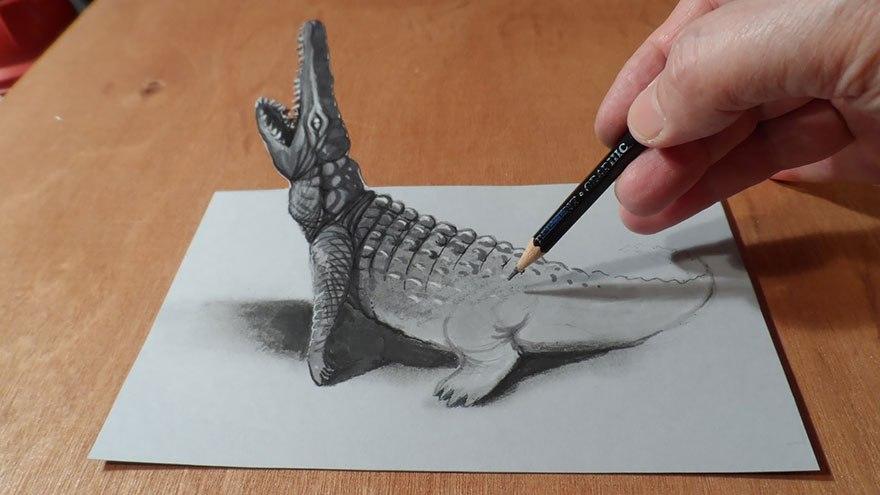 Как сделать рисунок карандашом 3d